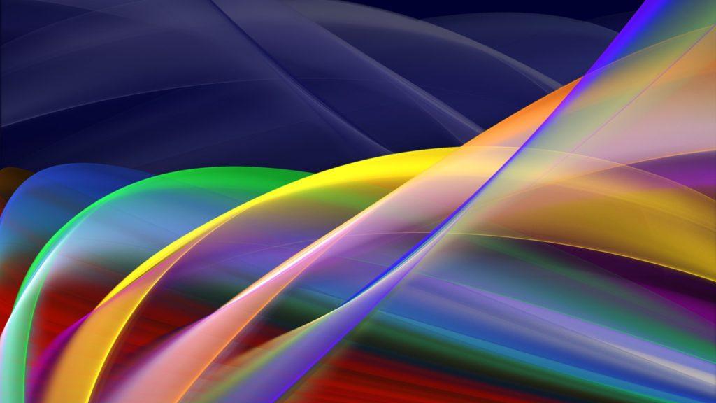 onde di colori che si intrecciano