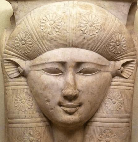 Scultura dell'antico Egitto della Dea Hathor